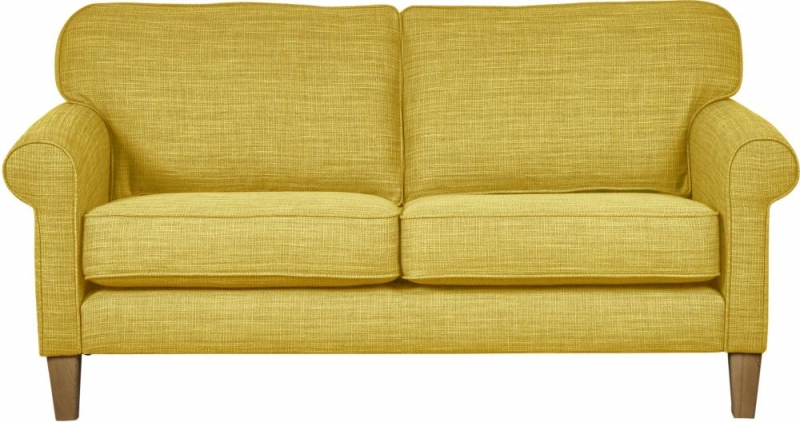 Mark Webster Maddison Ochre Fabric Small Sofa