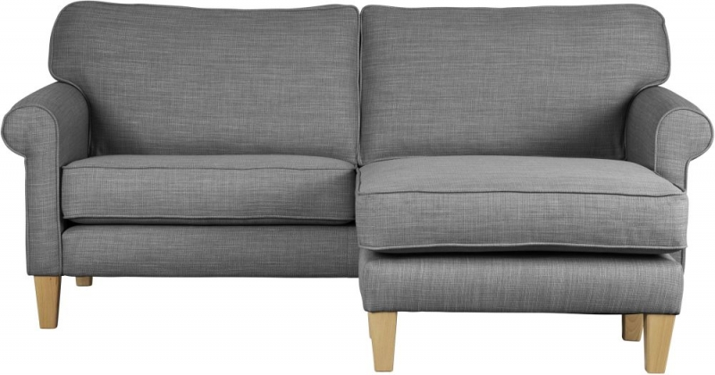 Mark Webster Maddison Pewter Fabric Chaise Group Sofa