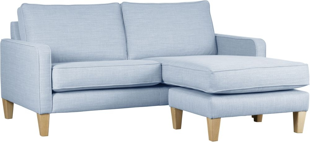 Mark Webster Maddox Glacier Fabric Chaise Group Sofa