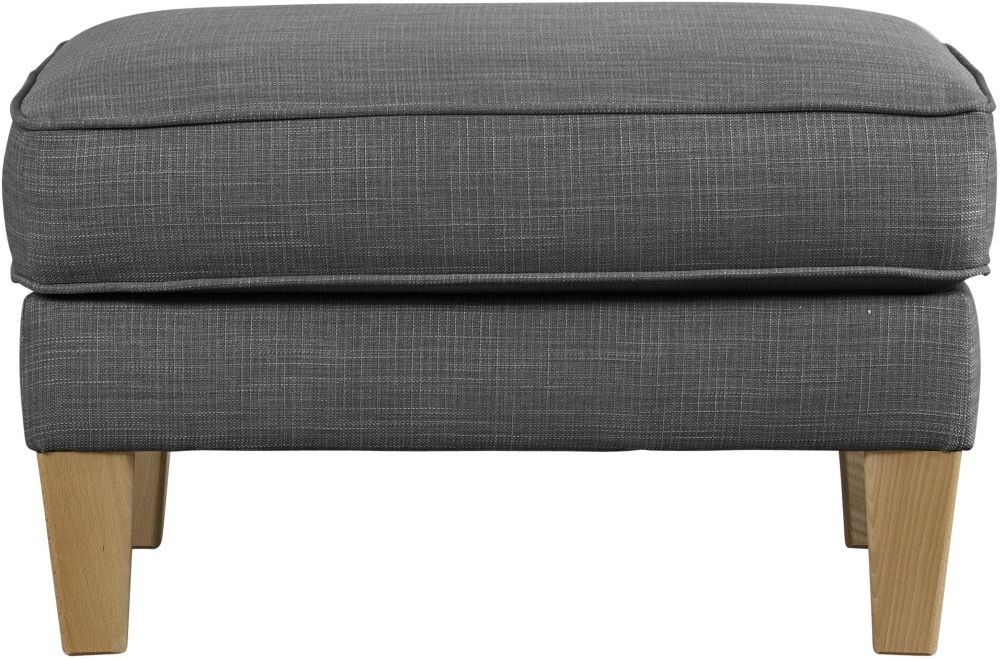 Mark Webster Maddox Pewter Fabric Footstool