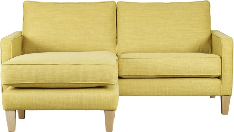 Mark Webster Maddox Ochre Fabric Chaise Group Sofa
