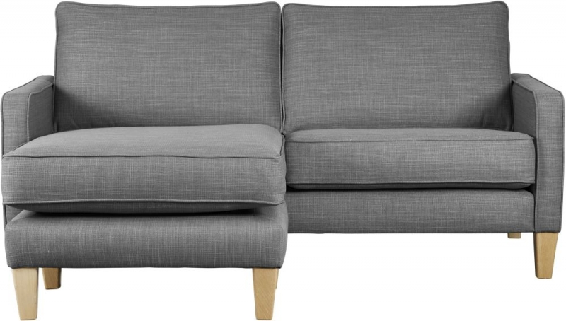 Mark Webster Maddox Pewter Fabric Chaise Group Sofa