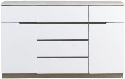 Mark Webster Milano Marble Top 2 Door 6 Drawer Wide Sideboard