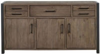 Mark Webster Montana Sideboard - Dark Wood and Black Metal