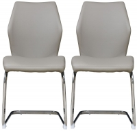 Mark Webster Motion Cappuccino Faux Leather Dining Chair (Pair)