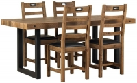 Mark Webster New York Rectangular Dining Set with 4 Chairs - 180cm