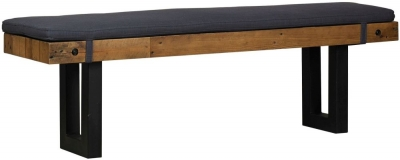 Mark Webster New York Bench with Fabric Seat Pad