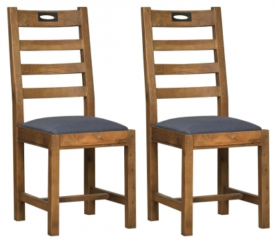 Mark Webster New York Dining Chair with Fabric Seat (Pair)