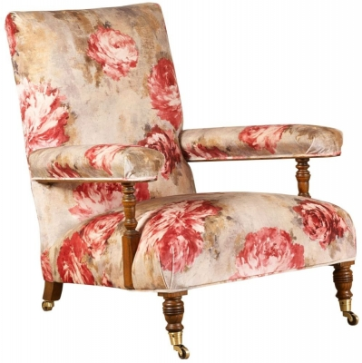 Mark Webster Ashcroft Red Flower Fabric Chair