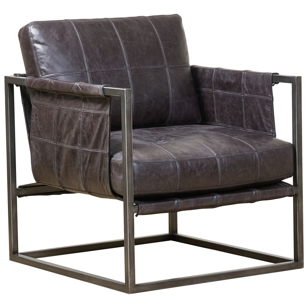 Mark Webster Reylee Leather Occasional Chair with Metal Frame