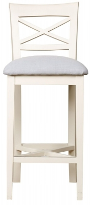 Mark Webster Padstow Painted Bar Stool with Fabric Seat Pad