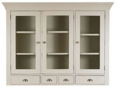 Mark Webster Padstow Painted Glazed Hutch - Large 3 Door 4 Drawer