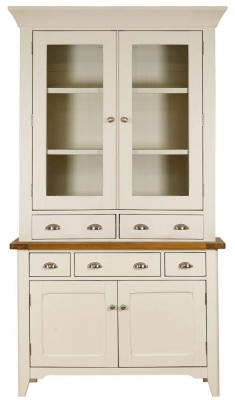 Mark Webster Padstow Painted Sideboard with Glazed Hutch - Small 2 Door 2 Drawer