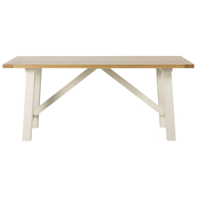 Mark Webster Padstow Painted Trestle Dining Table - Fixed Top