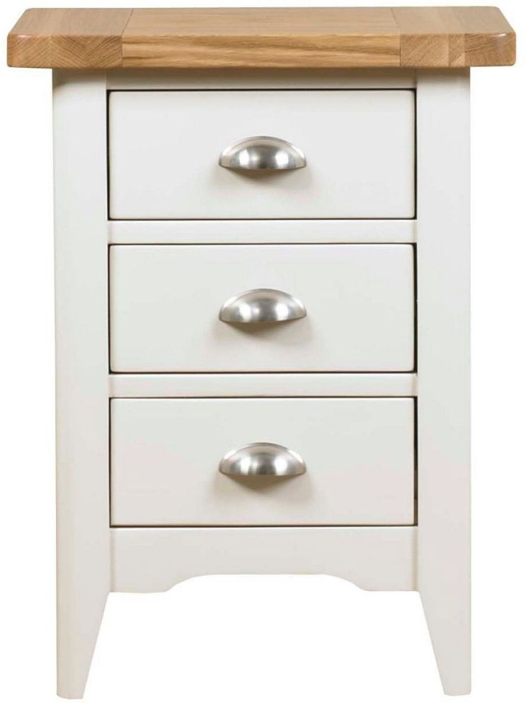 Mark Webster Padstow Painted Bedside Cabinet - 3 Drawer