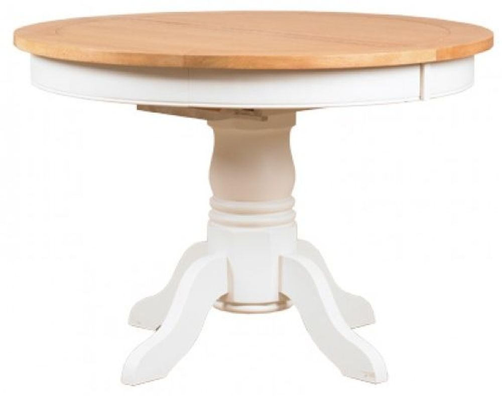 Buy mark webster padstow painted dining table round for Round extending dining table