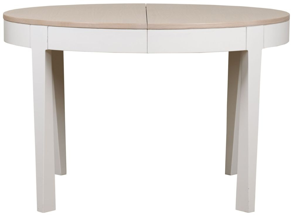 Mark Webster Painted Geo Dining Table - Round Extending