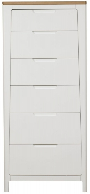 Mark Webster Painted Geo Chest of Drawer - 6 Drawer Tall