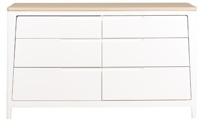 Mark Webster Painted Geo Chest of Drawer - Wide 6 Drawer