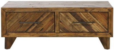 Mark Webster Parq Reclaimed Pine Coffee Table - 2 Drawer