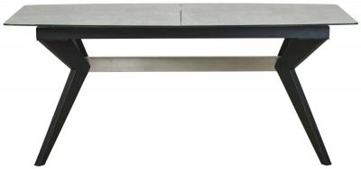 Mark Webster Soho Concrete Effect Rectangular Extending Dining Table - 180cm-230cm