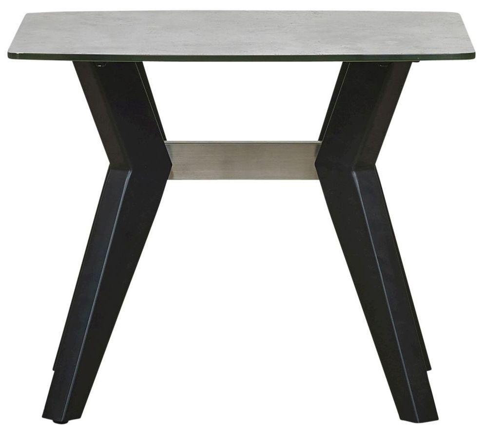 Mark Webster Soho Concrete Effect Lamp Table