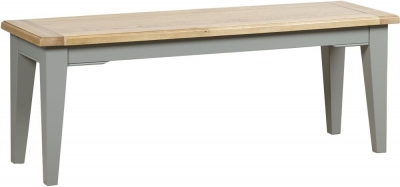 Mark Webster Waterford Dining Bench - Oak and Grey
