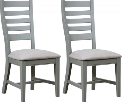 Mark Webster Waterford Grey Painted Dining Chair (Pair)
