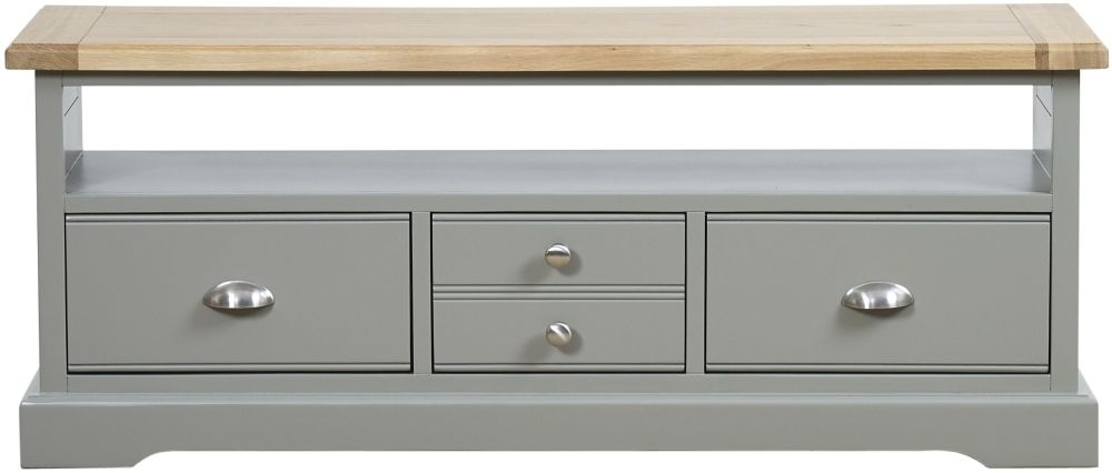Mark Webster Waterford TV Unit - Oak and Grey