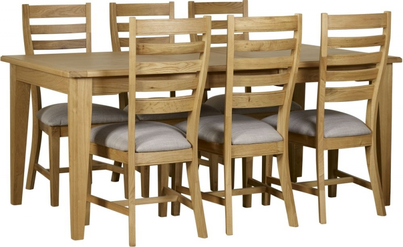 Mark Webster Westport Oak Extending Dining Table and 6 Chairs