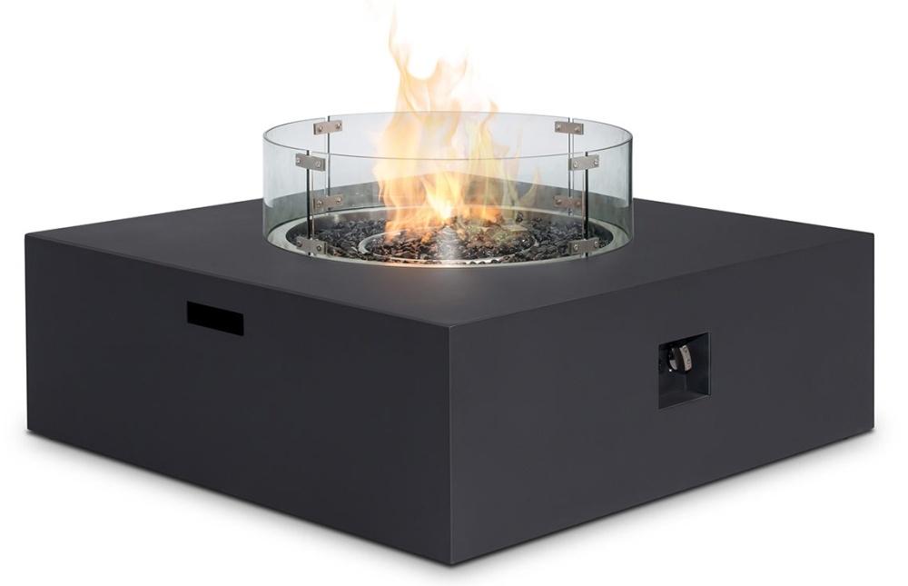 Maze Rattan Lounge Charcoal Square Gas Fire Pit
