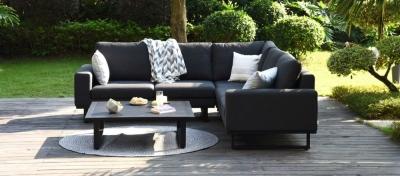 Maze Lounge Outdoor Ethos Charcoal Fabric Corner Sofa Group