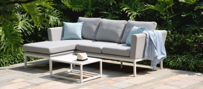 Maze Lounge Outdoor Pulse Lead Chine Fabric Chaise Sofa Set