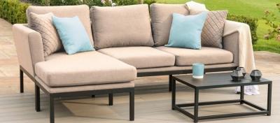 Maze Lounge Outdoor Pulse Taupe Fabric Chaise Sofa Set