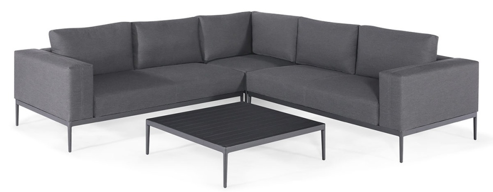 Maze Lounge Outdoor Eve Flanelle Fabric Corner Sofa Group