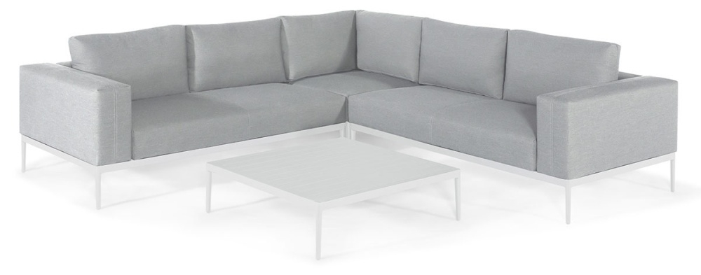 Maze Lounge Outdoor Eve Lead Chine Fabric Corner Sofa Group