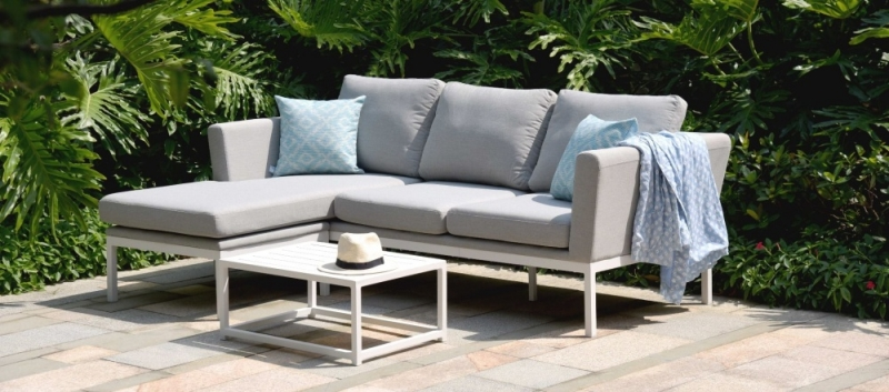 Maze Lounge Outdoor Pulse Lead Chine Fabric Chaise Sofa Set