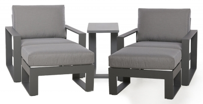 Maze Rattan Amalfi Grey 5 Piece Lounge Set