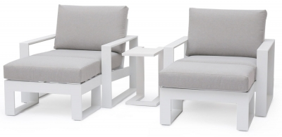 Maze Rattan Amalfi White 5 Piece Lounge Set