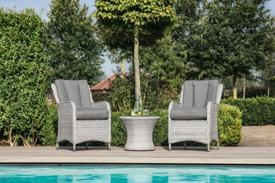 Maze Rattan Ascot Bistro Set with Weatherproof Cushions