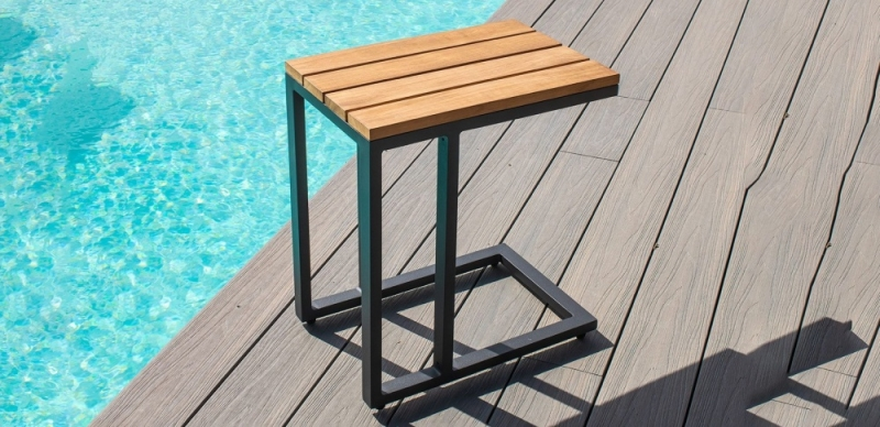 Maze Rattan Oslo Teak U Shaped Side Table