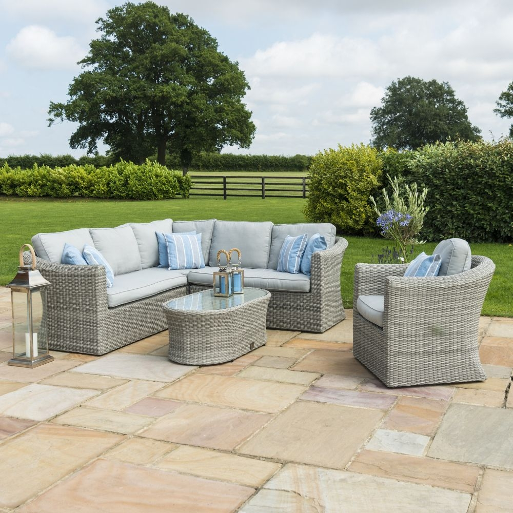 Maze Rattan Oxford Large Corner Group with Additional Armchair