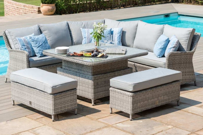 Maze Rattan Oxford Royal Corner Dining Sofa Set