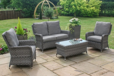 Maze Rattan Victoria High Back 2 Seat Sofa Set