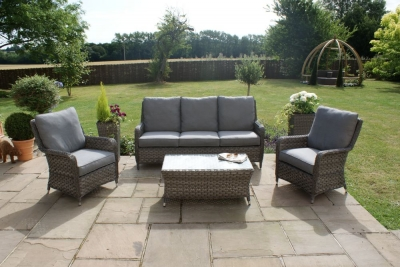 Maze Rattan Victoria High Back 3 Seat Sofa Set