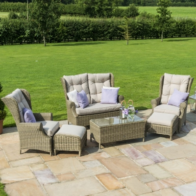 Maze Rattan Winchester High Back Sofa Set