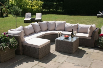 Maze Rattan Winchester Rounded Corner Group