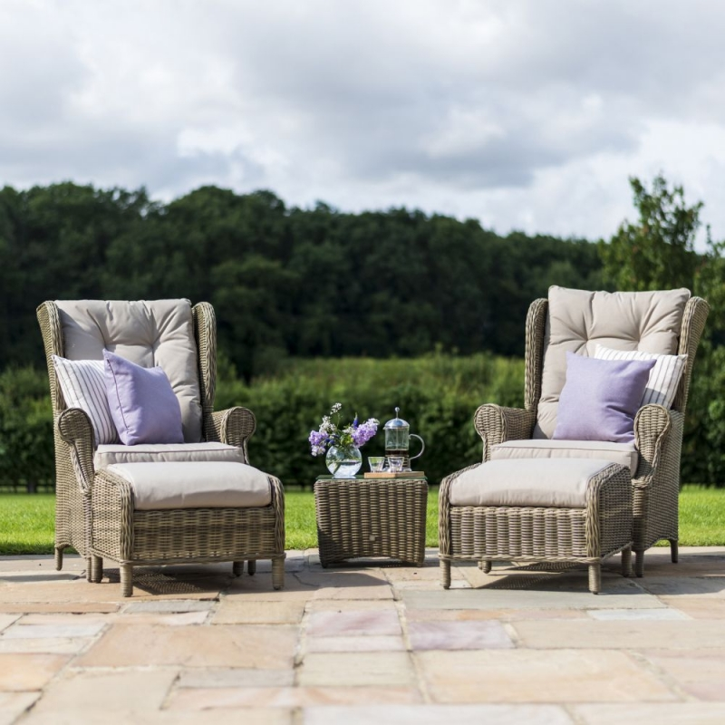Maze Rattan Winchester High Back Lounge Set