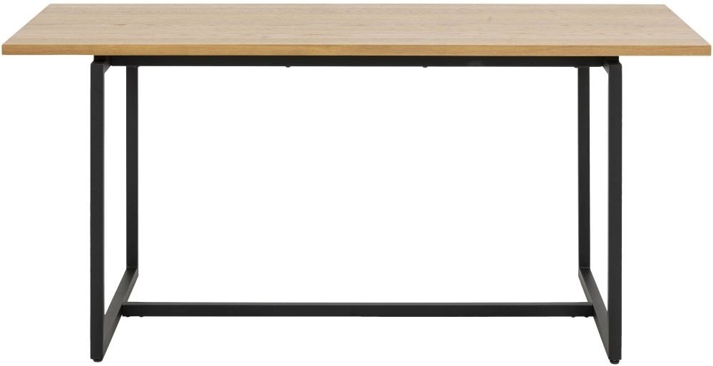 Dolton Dining Table - Brushed Wild Oak and Metal