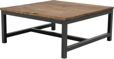Vinton Industrial Elm Wood Coffee Table